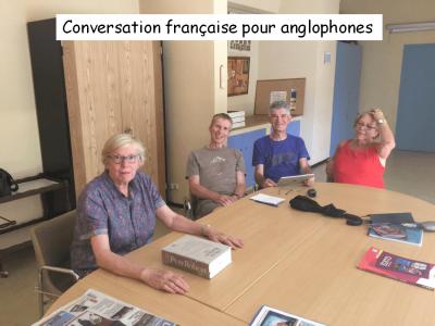 Conversation francaise avec legende